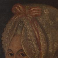 18th-Century French School Portrait of Lady with Bonnet, Oil Painting (8 of 9)