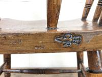 Antique Ash and Elm Smoker's Bow Chair (m-2303) (8 of 10)