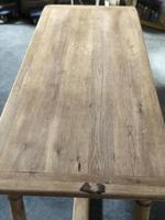 Bleached Oak Farmhouse Dining Table with Extensions (10 of 16)