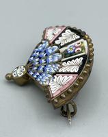 Micro Mosaic Fan Shaped Brooch (6 of 11)