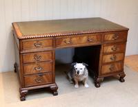 Large Mahogany Pedestal Desk (8 of 12)