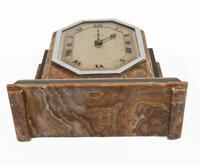 Art Deco Mantle Clock Marble Period 1920s Swinden Birmingham (8 of 8)