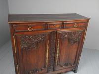 Antique Northern French Carved Oak Side Cabinet (3 of 15)