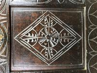 Antique 18th Century Carved Oak Coffer (M-1635) (3 of 13)