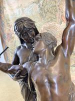 Stunning Large Bronze Group 'Gloria Patriae' by Eugene Marioton (6 of 9)