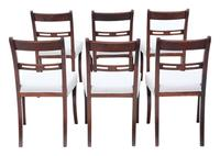Set of 6 Mahogany Dining Chairs 19th Century (2 of 7)