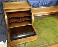 Victorian Inlaid Mahogany Writing Desk (16 of 20)