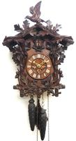 Antique Carved Early Cuckoo Clock Weight Driven Visible Pendulum (11 of 14)