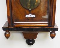 Antique Rocket Cased Single Weight Walnut 8-Day Vienna Regulator Wall Clock (7 of 14)