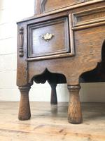 18th Century Antique Oak Chest on Stand (6 of 9)