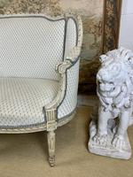 French Carved Wood Two Seat Settee (4 of 7)