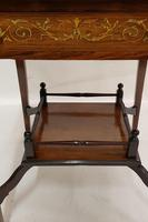 Victorian Rosewood Envelope Card Table (3 of 6)