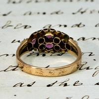 The Antique Victorian 1897 Pink Tourmaline & Seed Pearl Ring (3 of 4)