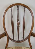 Mahogany Hepplewhite Style Armchair c.1920 (6 of 7)