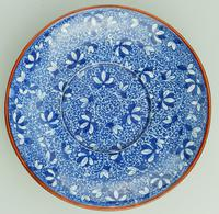 Pearlware Pottery Blue & White Transferware Loving Cup & Saucer c.1810 (6 of 8)