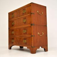 Antique Mahogany  Military Campaign Chest of Drawers (10 of 11)