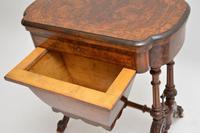 Antique Victorian Burr Walnut Games & Work Table (7 of 14)