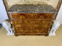 19th Century French Burr Walnut Commode with Marble Top (8 of 9)