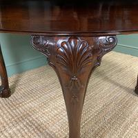Edwardian Walnut Wind Out Extending Antique Dining Table (6 of 10)
