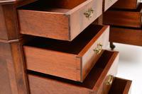 Large Antique Walnut Leather Top Pedestal Desk (5 of 12)