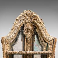 Antique Mirrored Corner Shelf, English, Gilt Gesso, Decorative Display, Regency (6 of 9)