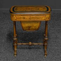 Victorian Walnut Games / Sewing Table (3 of 8)