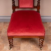 19th Century Walnut Barley Twist Prie Dieu Chair (12 of 15)