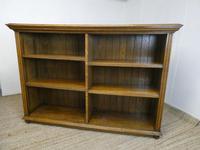 Scottish Oak Open Bookcase