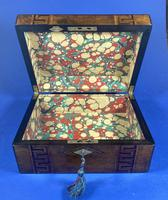 Victorian Burr Walnut  Box With Tunbridge Ware Inlay. (4 of 12)