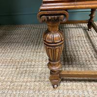 Victorian Oak Antique Pedestal Desk Circa 1890 (8 of 9)
