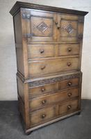 Carved Oak Millinery Cupboard / Tallboy / Press (9 of 11)