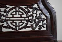 Chinese Hardwood Mirror Stand with Circular Bevelled Mirror (6 of 10)