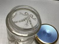 Delightful Silver Gilt & Blue Enamel Jar (5 of 5)