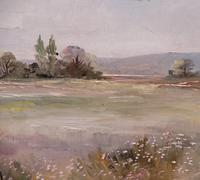 Large oil tranquil landscape artist Barbara Coner (free shipping to mainland england) (9 of 10)