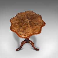 Antique Wine Table, Mahogany, Burr Walnut, Inlay, Side, Marquetry, Regency, 1820 (7 of 12)