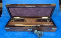 Victorian Rosewood Nickel Silver Bound Writing Box (13 of 16)
