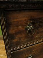 Antique Small Rustic Black Chest of Drawers (10 of 15)