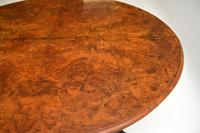 Antique  Victorian Burr Walnut Loo Table (12 of 13)