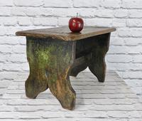 Large Rustic Bench Stool, Original Paint (2 of 6)