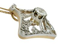 4.21ct Diamond & 18ct Yellow Gold Pendant / Brooch - Antique French c.1900 (6 of 16)