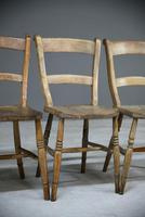 4 Rustic Elm Country Kitchen Chairs (9 of 14)