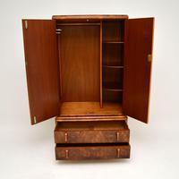 1930's Art Deco Burr Walnut Tallboy Wardrobe (6 of 11)