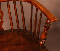 A Set of 4 Yew Tree Windsor Chairs Rockley Workshop (7 of 21)