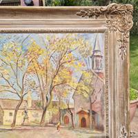 Carved Framed Oil on Canvas (3 of 9)
