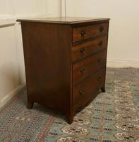 Distressed Georgian Flame Mahogany Chest of Drawers (3 of 5)