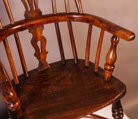 A Near Pair of Childs Yew Wood Windsor chairs (8 of 14)