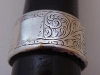 Victorian Walking Stick Cane 1893 Hallmarked Solid Silver Pommel Rosewood Shaft (3 of 12)