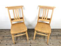 Set of Four Vintage Beech Chapel Chairs (6 of 16)