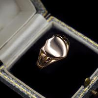 Antique Shield Signet 9ct 9K Yellow Gold Ring (9 of 10)