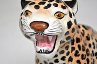 1970's Large Vintage Porcelain Leopard Sculpture (6 of 11)